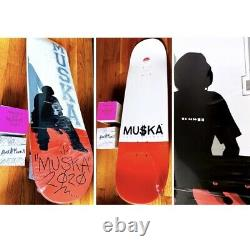 /100 The Muska Skateboards Red Dipped Chad Muska Silhouette Deck Signed Sold Out