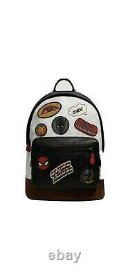 $698 Coach X MARVEL West Backpack In Signature Canvas With Patches NWT, Sold OUT