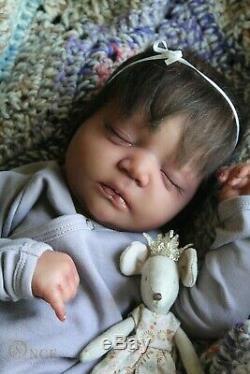 AA black Reborn baby lifelike art doll Johanna prototype artist lIIORA SOLD OUT
