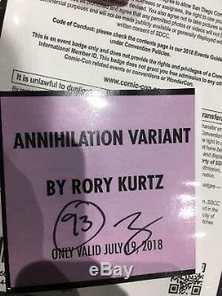 ANNIHILATION Rory Kurtz MONDO Poster Print SDCC SOLD OUTIN HAND