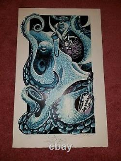 Aj Masthay octopus art print doodled and sold out phish