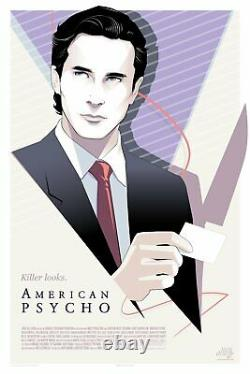 American Psycho by Craig Drake Print Poster Mondo x/275 Sold Out PreOrder