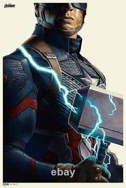 Avengers Endgame Captain America Poster MONDO Phantom City X/300 SOLD OUT
