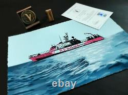 Banksy The Louise Michel Blue Deckled GOLD edition# 1/85! SOLD OUT! Kaws dface