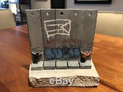 Banksy Walled Off Hotel Unique Wall Signed BY LUSH Rare Sold out art sculpture