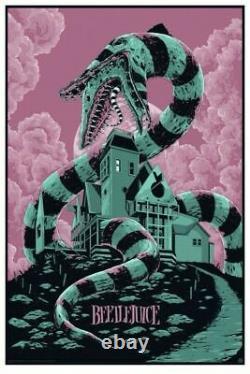 Beetlejuice by Ken Taylor Regular Rare sold out Mondo Art Print Poster
