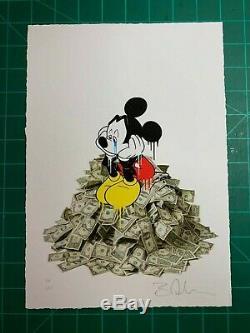 Ben Allen Art, Mickey Mouse Life Sucks! SOLD OUT print, pop art, street art