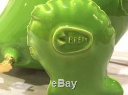Brett Kern GREEN Ceramic Inflatable T-Rex Sculpture SOLD OUT RARE