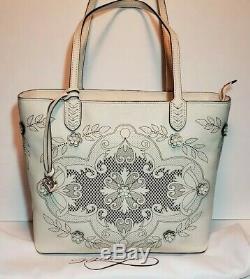Brighton 3d Tivoli Trellis Coll Rare Sold Out Shoulder Handbag Tote Nwot Mpr$400
