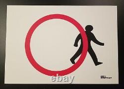 By Mrs Banksy Stepping Out Banksy Signed spray print sold out A3-paper
