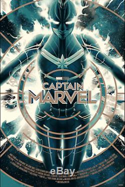 CAPTAIN MARVEL Glow Variant Print Poster Matt Taylor Mondo Marvel SOLD OUT #/325