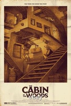 Cabin in the woods by Phantom City Creative Rare sold out Mondo print