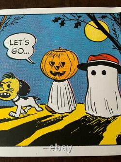 Charles Schulz Peanuts Let's Go Sold Out Poster Charlie Brown & Snoopy Mondo
