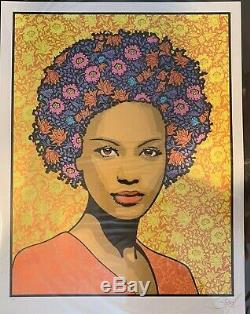 Chuck Sperry ATHENA Screen Print Silver Metallic #ed/80 SOLD OUT SIGNED Mint