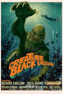 Creature from the black lagoon by Stan & Vince Regular Sold Out Mondo Print