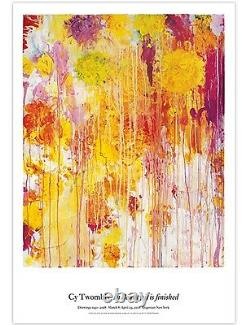 Cy Twombly Original Exhibition Poster #2 Yellows & Oranges 39X27 SOLD OUT