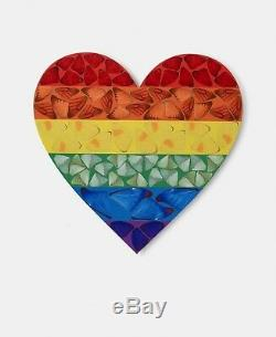 DAMIEN HIRST BUTTERFLY RAINBOW HEART LIMITED EDITION SMALL sold out signed