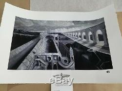 David Welker Viaduct art print SOLD OUT not Bear Bull Bakers Dozen poster