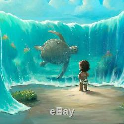 Disney Fine Art Moana's New Friend Sold Out Limited Edition by Rob Kaz