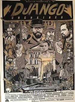 Django Unchained Tyler Stout Variant Sold Out Mondo xx/290