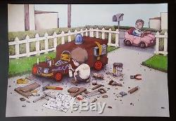 Dran Easy Rider Poster RARE SOLD OUT not banksy dolk kaws fairey obey mbw keyes