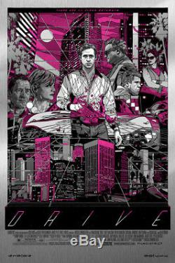 Drive by Tyler Stout Cityscape Metal Variant Rare Sold Out Mondo Print