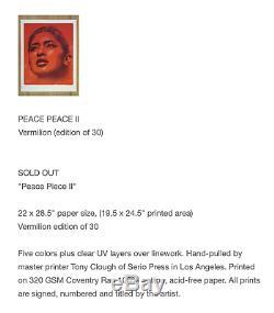 EL MAC PEACE PIECE VERMILLION Signed Art Print x30 SOLD OUT rare retna stone sun