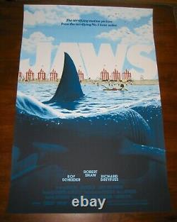Florey JAWS Alternative Movie Poster Screen Print AP Not Mondo SOLD OUT