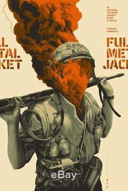 Full Metal Jacket Mondo Poster Oliver Barrett Stanley Kubrick Sold Out