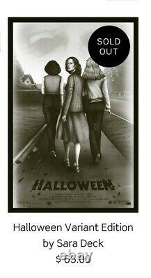 Halloween Variant Edition Poster by Sara Deck Sold Out! In hand! X of 90