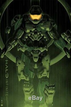 Halo Infinite Poster SDCC Mondo Matt Ryan Tobin xx/325 IN HAND SOLD OUT