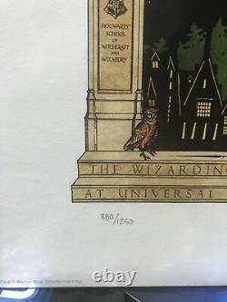 Harry Potter Celebration Minalima Limited Edition Print 2014 #380 SOLD OUT