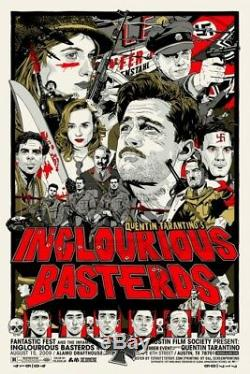 Inglourious basterds by Tyler Stout Regular Rare sold out Mondo print