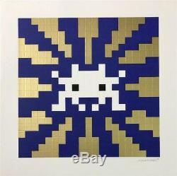 Invade Sunset Gold Print Space Invader SOLD OUT