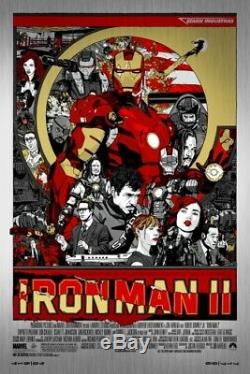 Iron man 2 by Tyler Stout Signed Metal Rare sold out Mondo print