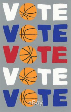 JONAS WOOD VOTE Basketball, 2018, signed & numbered, mint, SOLD-OUT