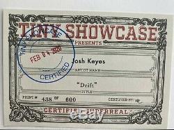 JOSH KEYES DRIFT SOLDOUT TINY SHOWCASE ART PRINT COA #438/600 poster