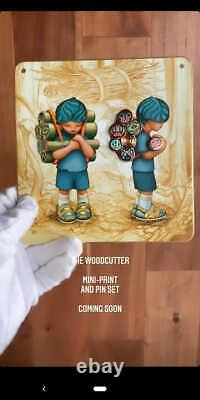 James Jean The Woodcutter Print and Pin Set X/500 Sold Out! Signed PREORDER