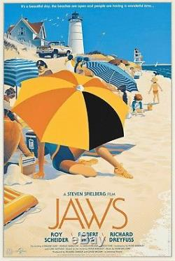 Jaws by Laurent Durieux Rare sold out Mondo print
