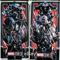 John Guydo Marvel Heroes & Villains 10 Years Variant Sold Out SET Poster Mondo