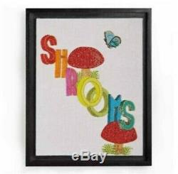 Jonathan Adler Shrooms Hand Beaded Artwork, Sold Out! Excellent condition