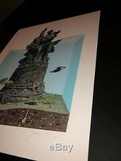 Josh Keyes Art Print Poster End Of The Trail 2019 Giclee S/N Sold Out Low #
