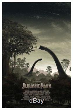 Jurassic park by J C Richard Regular Rare sold out Mondo print
