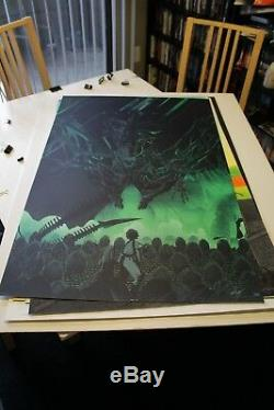 Kevin Tong ALIENS MONDO Limited Edition Print SOLD OUT Great Condition! Alien