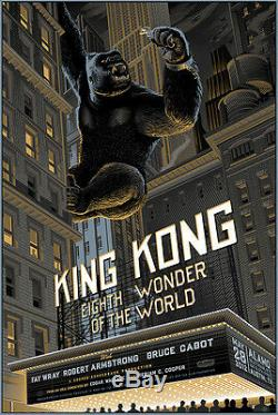 King kong by Laurent Durieux Rare sold out Mondo