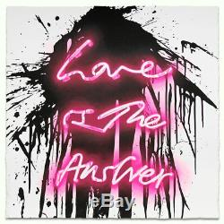LOVE ON by MR. BRAINWASH Love Is The Answer Signed Neon Print Sold Out