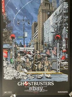MONDO Ghostbusters movie print poster by Ken Taylor Numbered SOLD OUT
