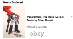 MONDO Transformers The Movie (Variant) Poster by Oliver Barrett x/125 SOLD OUT