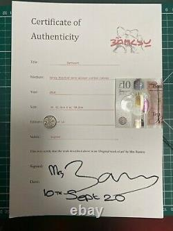 MRS BANKSY Canvas + Crate + COA Rat Heart & Boy with balloon. SOLD OUT numbered