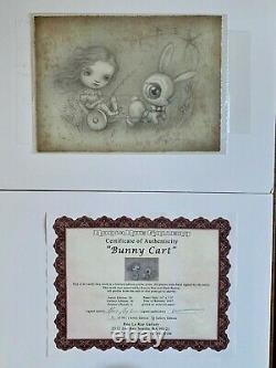Mark Ryden Bunny Cart Rare from Sold Out Edition 2007